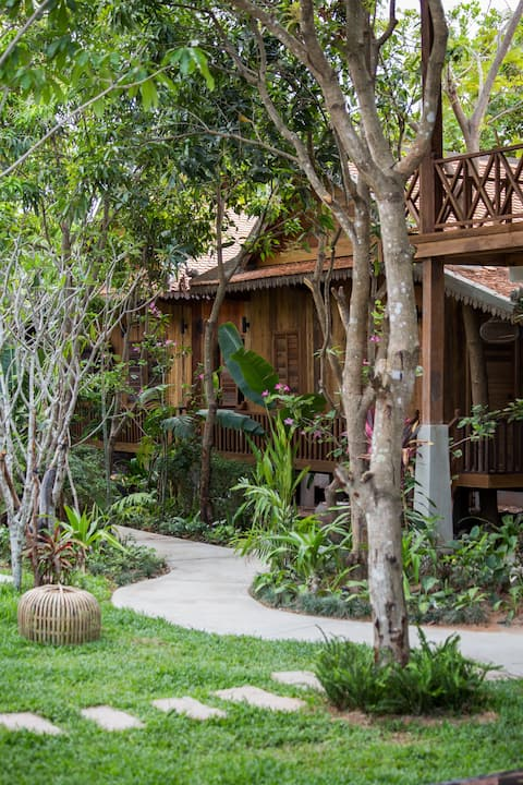 Khmer Bungalow with Outdoor Pool