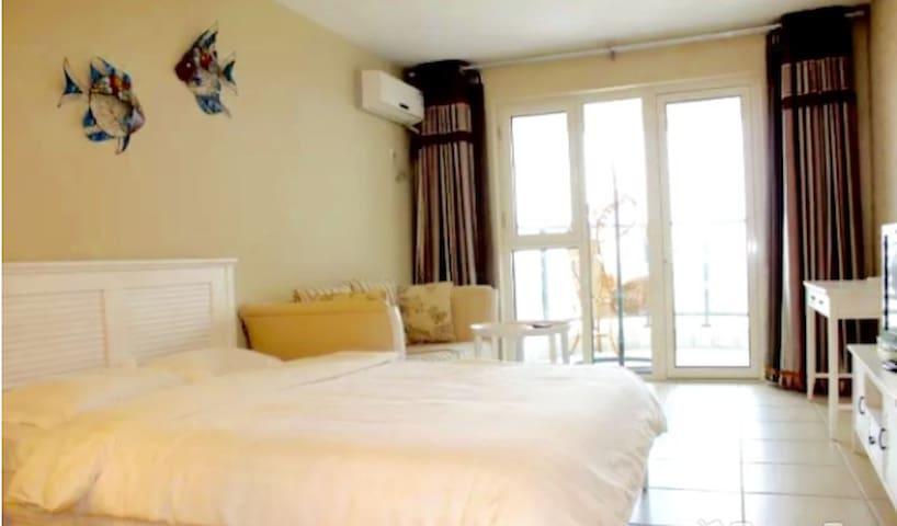 休闲度假-东戴河小清新全海景套房,给您的心灵放个假 - Huludao - Wohnung