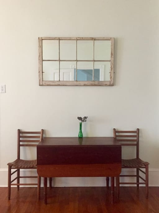 Dining table (expands to seat up to six).