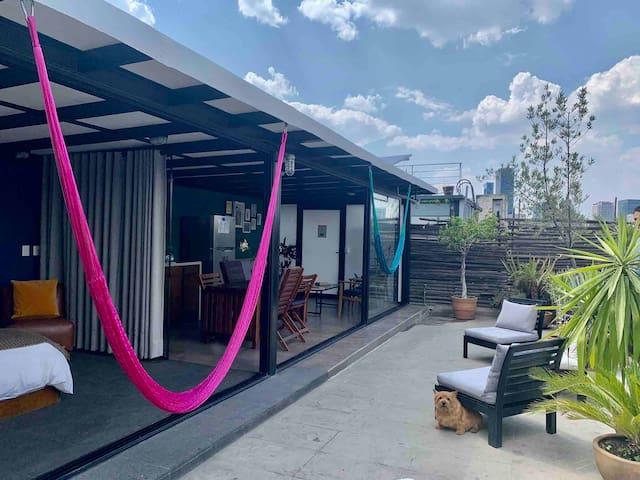 Peaceful Apartment/Terrace in CDMX/ROMA