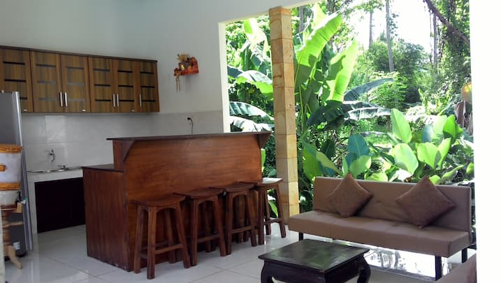 private 2bedroom villa with large pool and garden
