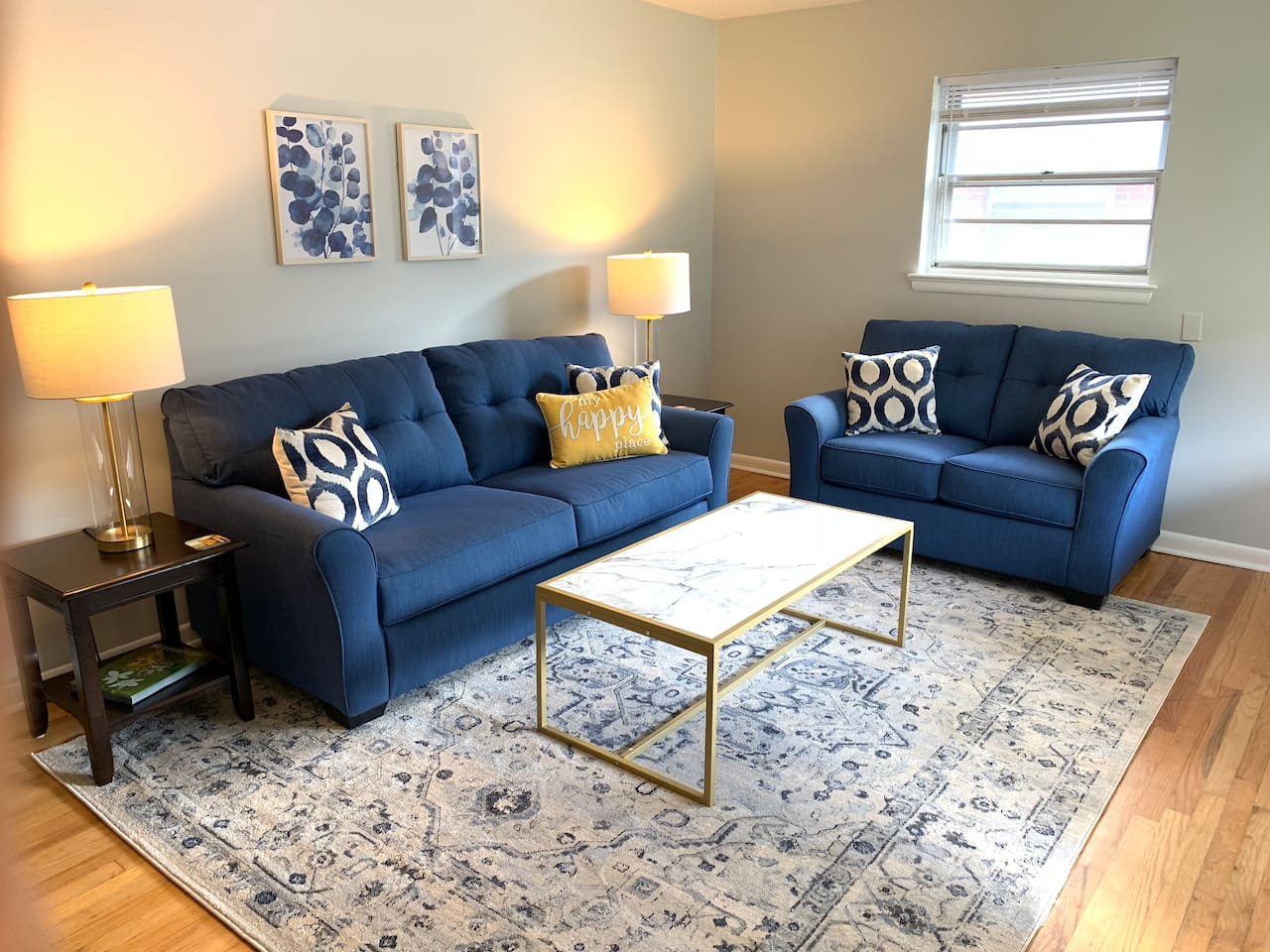 Rest and relax or enjoy company in the cozy living room.