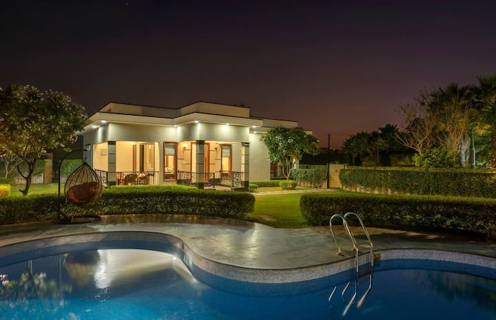 Beautiful 2 BHK Farm with Private Pool (Sanitized)