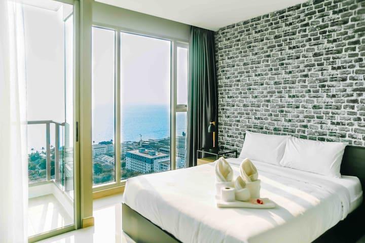 全新Riviera精装一室27平超级海景网红公寓,正海朝向
