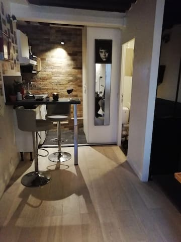 Joli studio dans quartier animé au cœur de Paris