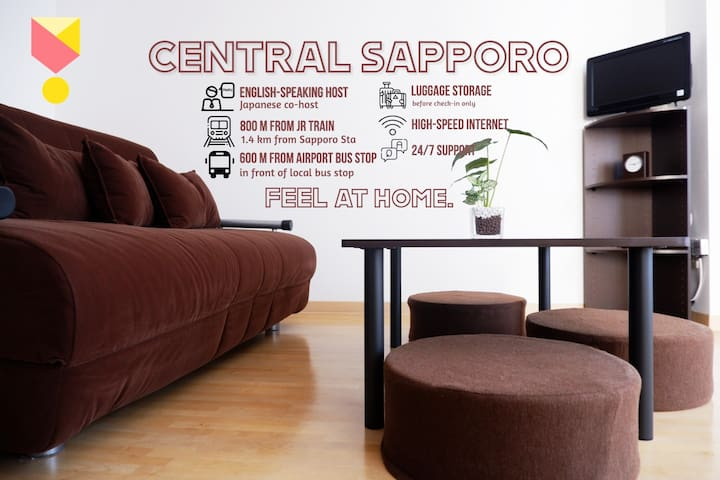 NEW! CHEAP & COZY! Near JR Soen & Sapporo Sta!