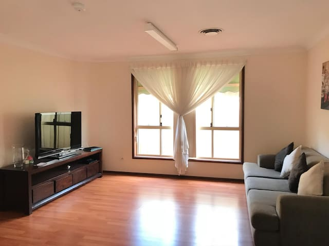 Spacious lounge with entertainment area