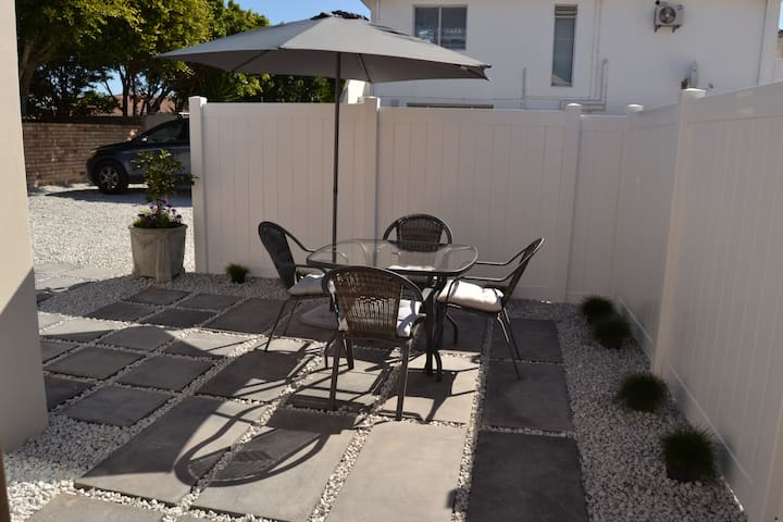 Outside Private Patio Area- Weber provided for a true SA Braai.