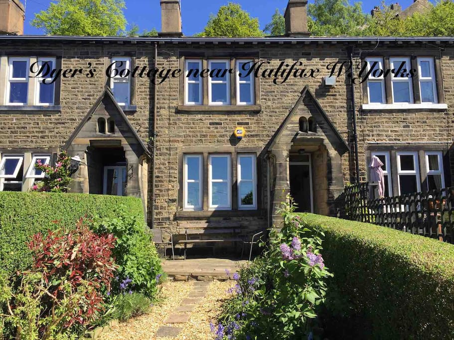 Originally a farmhouse on the sides of the Calder Valley near Halifax, this amazing building was split into 5 houses for Master Dyers probably 200 years ago. The distinctive porch was added around 1860 by JE Wainhouse who owned the dyeworks.