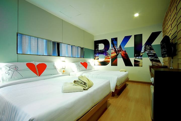 Private/Family room for 4 people @ BTS skytrain