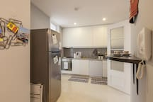 The Kitchen is equipped with a broad choice of crockery and cutlery to allow to cook your meals at the apartment