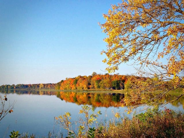 There are not many scenes more beautiful than the fall colors reflecting on the lake.