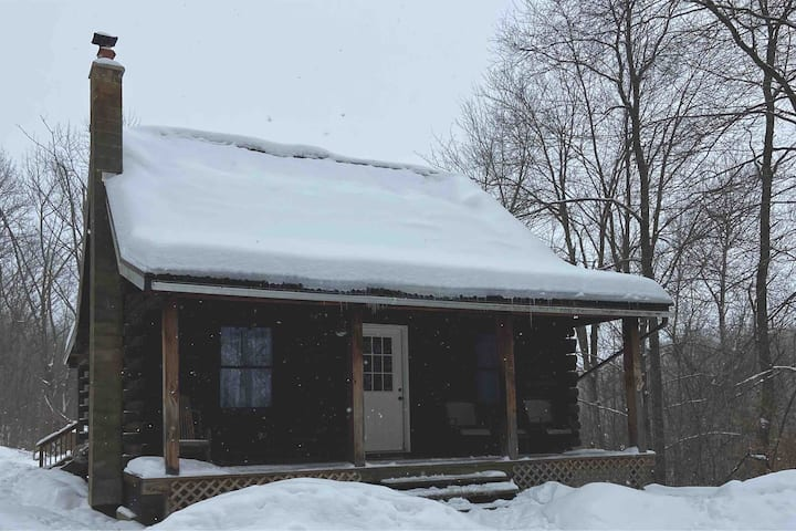 Cozy log cabin close to town