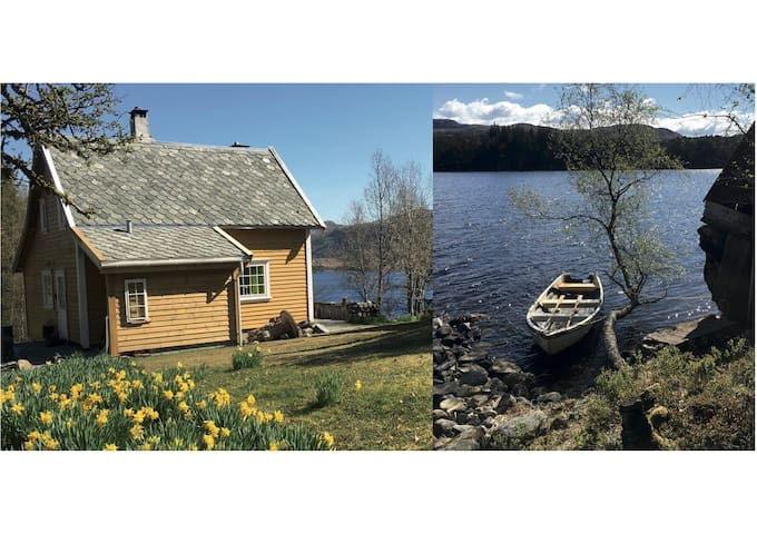 Cosy house by a lake - all by yourself