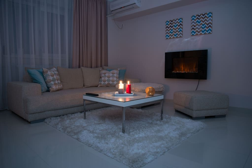 Cozy, warm and elegant living room