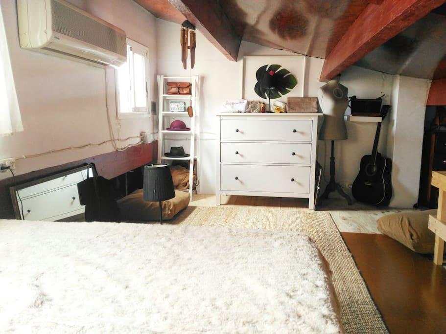 Upper floor + Bedroom