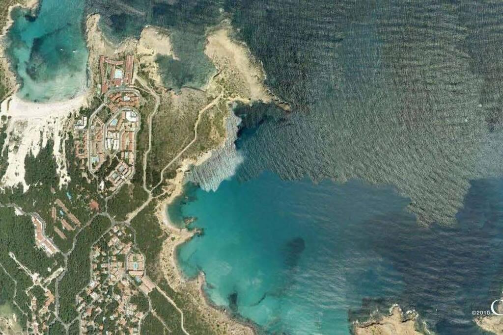 Menorca. Zona de la urbanización