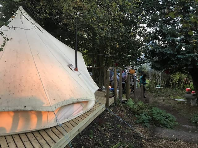 The Rabbit Hole, a magical hideaway bell tent.