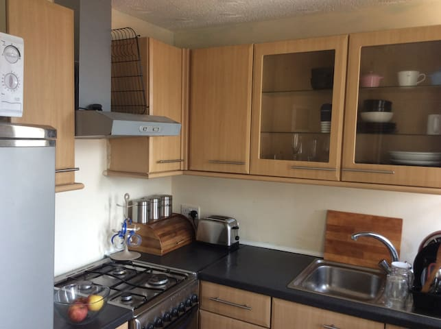 Glasgow flat with 2 double beds and free WIFI