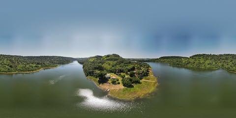 Alagado, lago, isolado  em Rio Bonito do Iguaçu