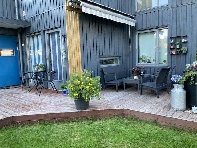 Koselig leilighet i fredelig nabolag
