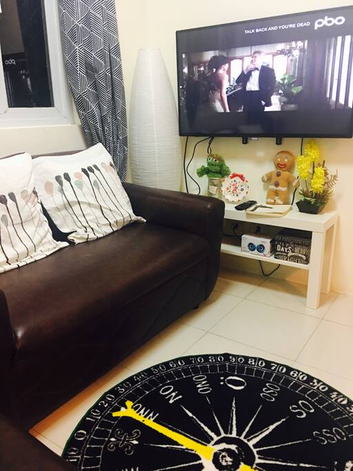 """Enjoy a relaxing movie in our huge tv (43"""" smart cable tv) or play Xbox 360 (Xbox 360 play station will be available from 20th Oct, 2017 onwards)"""