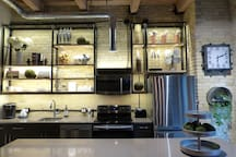 Our kitchen is fully stocked kitchen for any cooking or entertaining needs