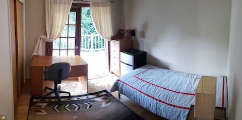 Bedroom  One with Private Entrance