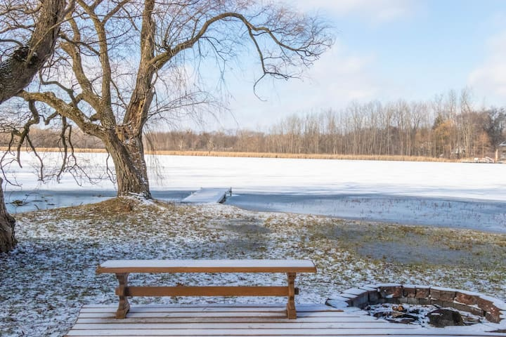 Our Freezing Lake...Calling all Ice Fishers!