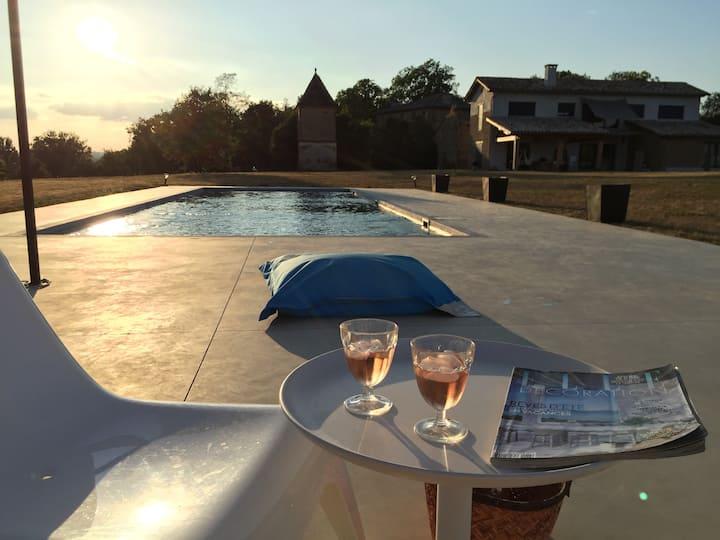 Superbe maison architecte piscine&trampoline Park