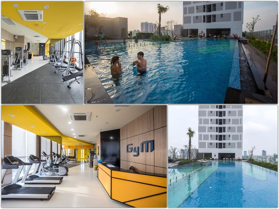 Free infinity pool, luxury gym, what can be better?