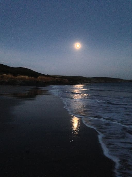 The local beach at night...a great surf break!