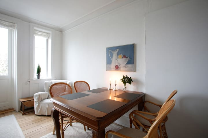Room 1: Dining table.