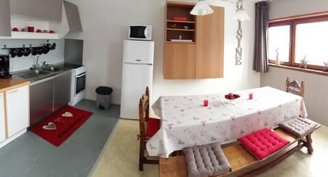 Bel appartement vue sur le massif
