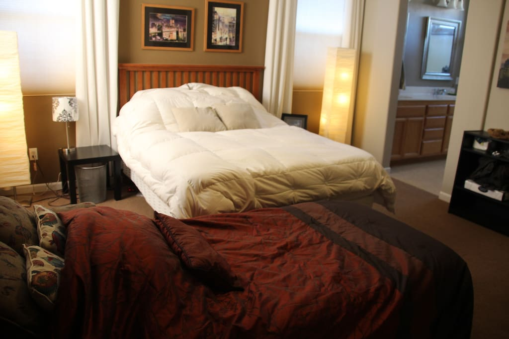 Additional Sleeper twin bed in love seat. Additional Queen airbed can be provided upon request.