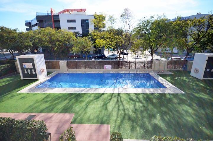 Golive Blau, duplex with pool