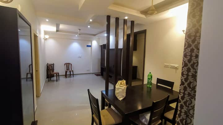 Semi furnished 2 bhk north facing