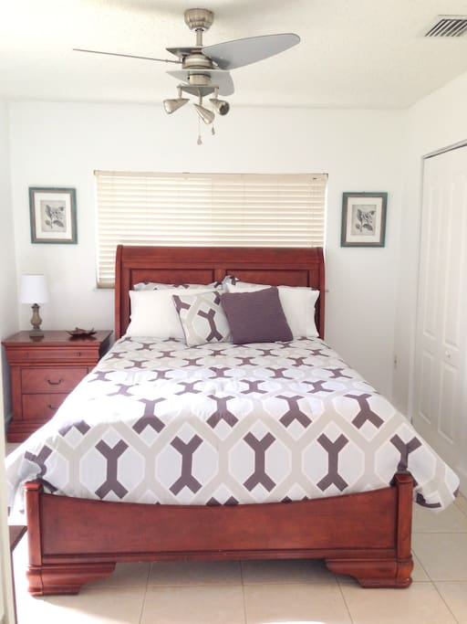 Queen Size Bed- NEW very comfortable mattress.