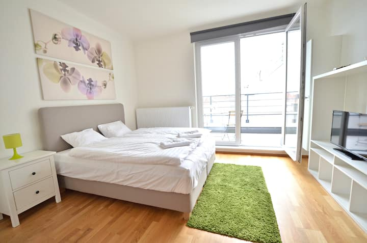 Very light rooftop studio in renovated residence