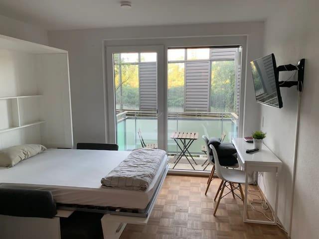 Coole, moderne + super zentrale 1-Zimmer Wohnung