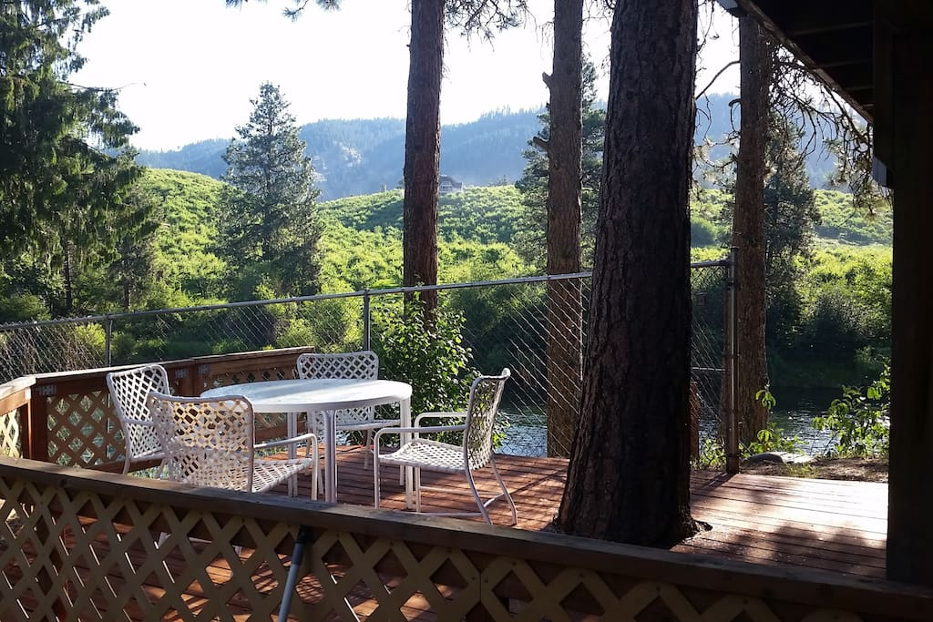 Your very own deck (w/BBQ) overlooking the Wenatchee River.