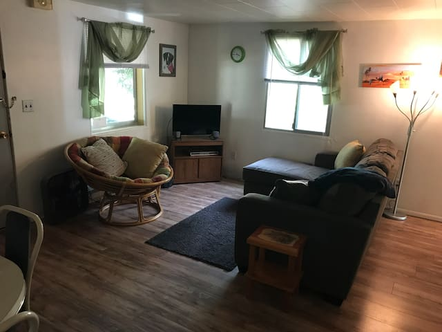 Simple, comfortable duplex, with central location
