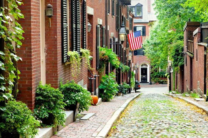 Around the corner, one of the first streets in Boston