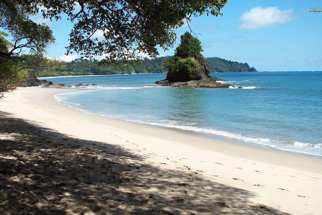 our beach, just 100 meters walk