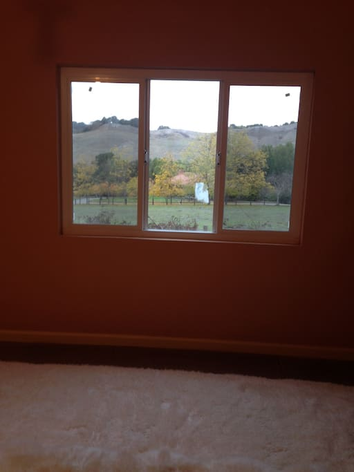 View from the bedroom of rolling hills