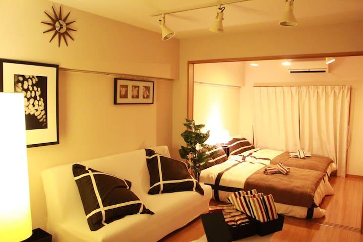 8mins-WalK SHIBUYA!8 guests stay OK!Free WIFI! - Shibuya-ku - Apartment