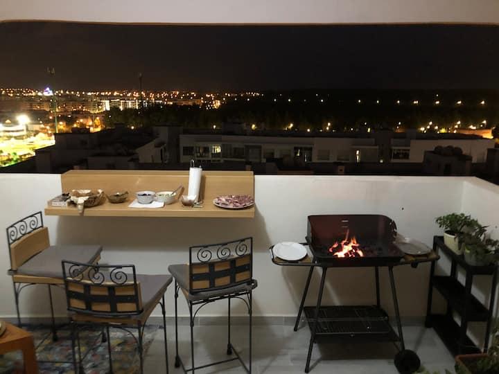 Nouvel appartement de charme à Prestigia hay Riad