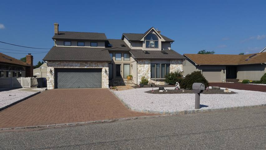 Walk to Barnegat Bay Beach from 5 Bedroom Home