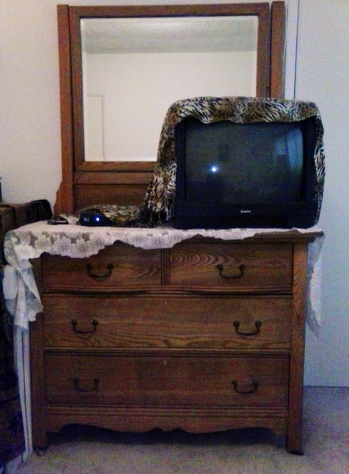 Dresser and private TV in Room