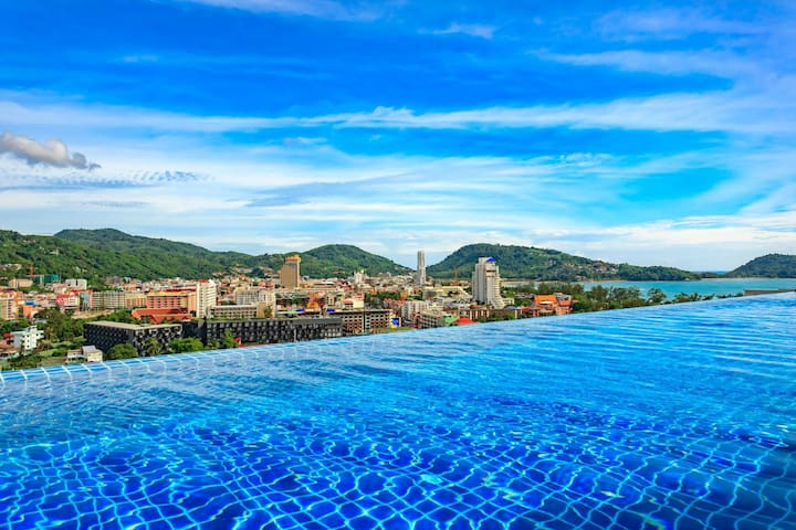 U208 - Patong Studio with kitchen, pool and private patio.